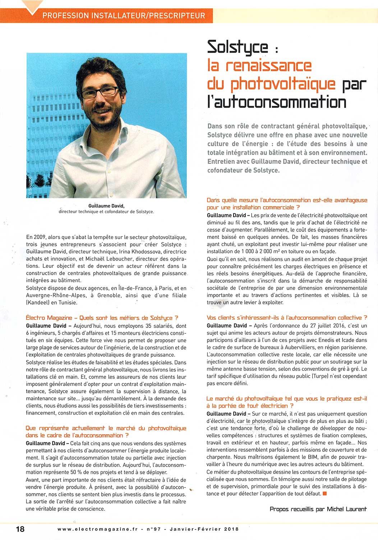 Solstyce Autoconsommation Publication Electromagazine Article