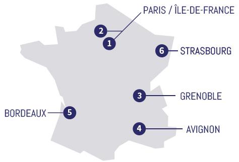 Agence du groupe Solstyce en France en 2020